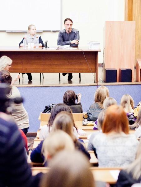 Иван Охлобыстин. Встреча со студентами журфака МГУ. Фото Анны Гальпериной (69)