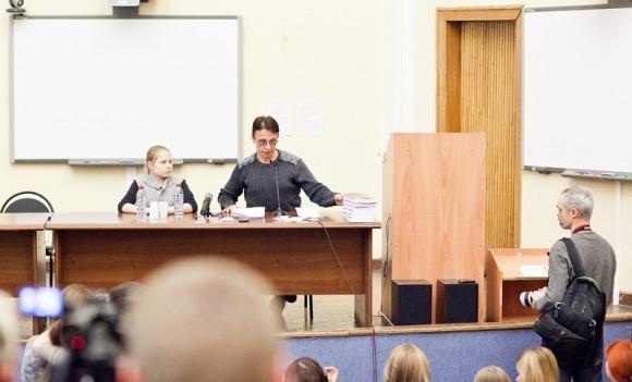 Иван Охлобыстин. Встреча со студентами журфака МГУ. Фото Анны Гальпериной (71)