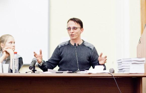 Иван Охлобыстин. Встреча со студентами журфака МГУ. Фото Анны Гальпериной (74)