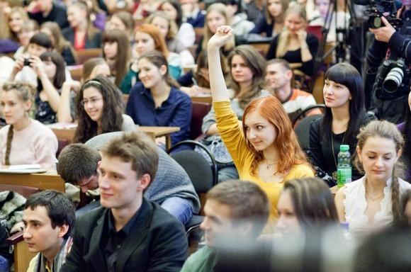 Иван Охлобыстин. Встреча со студентами журфака МГУ. Фото Анны Гальпериной (78)