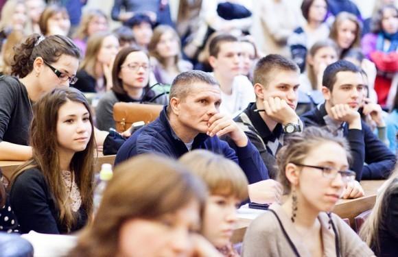 Иван Охлобыстин. Встреча со студентами журфака МГУ. Фото Анны Гальпериной (4)