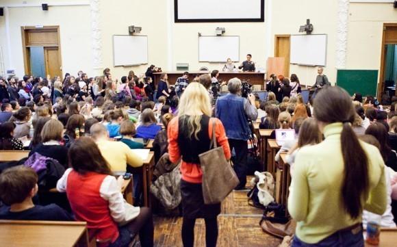 Иван Охлобыстин. Встреча со студентами журфака МГУ. Фото Анны Гальпериной (7)