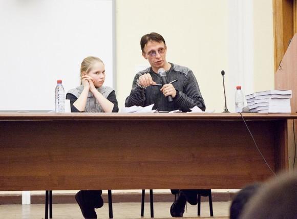 Иван Охлобыстин. Встреча со студентами журфака МГУ. Фото Анны Гальпериной (8)