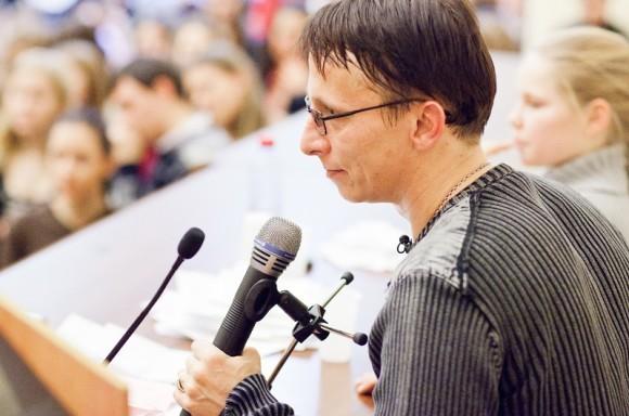 Иван Охлобыстин. Встреча со студентами журфака МГУ. Фото Анны Гальпериной (27)