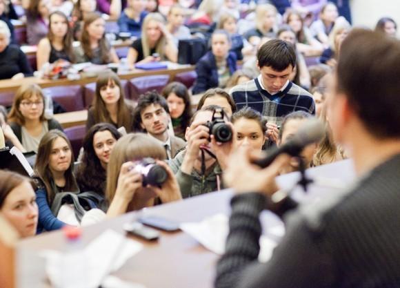 Иван Охлобыстин. Встреча со студентами журфака МГУ. Фото Анны Гальпериной (35)