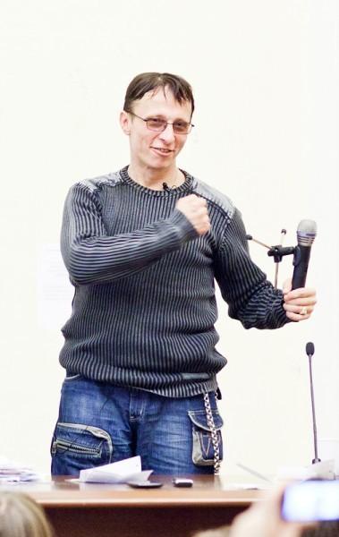 Иван Охлобыстин. Встреча со студентами журфака МГУ. Фото Анны Гальпериной (39)