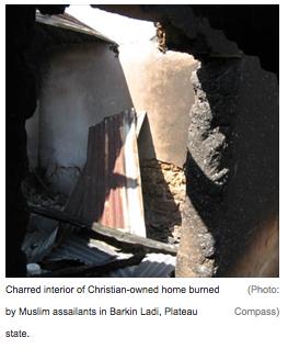 Сожженный дом христианина