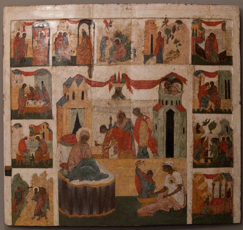 Рождество Богоматери. 1520 год. Новгород. Собрание А.П.Бойцова (Москва).