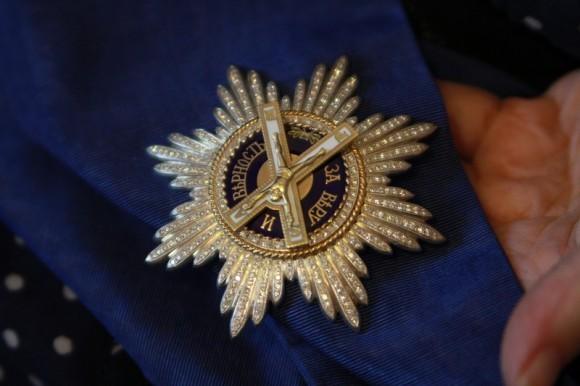 Высшая награда - орден св. Андрея Первозванного