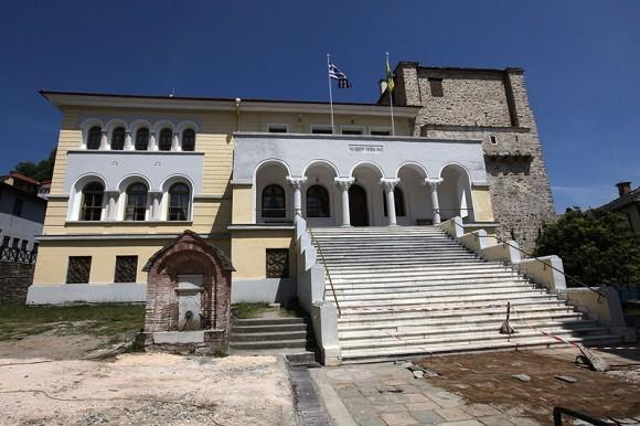 Здание Протата в Карее, где проходят заседания Священного Кинота