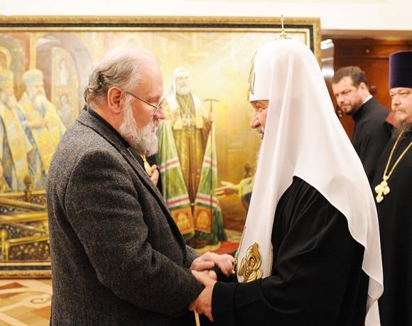В. Чуров на приеме у Патриарха. Фото: Патриархия.ру