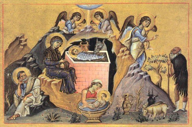 О канонической иконографии Рождества