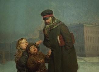 Журавлев Ф. С. Дети-нищие (фрагмент)