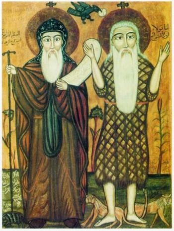 Антоний Великий и апостол Павел
