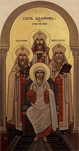 Святая Макрина, святитель Василий Великий, свт. Григорий Нисский и св. Петр Севастийский