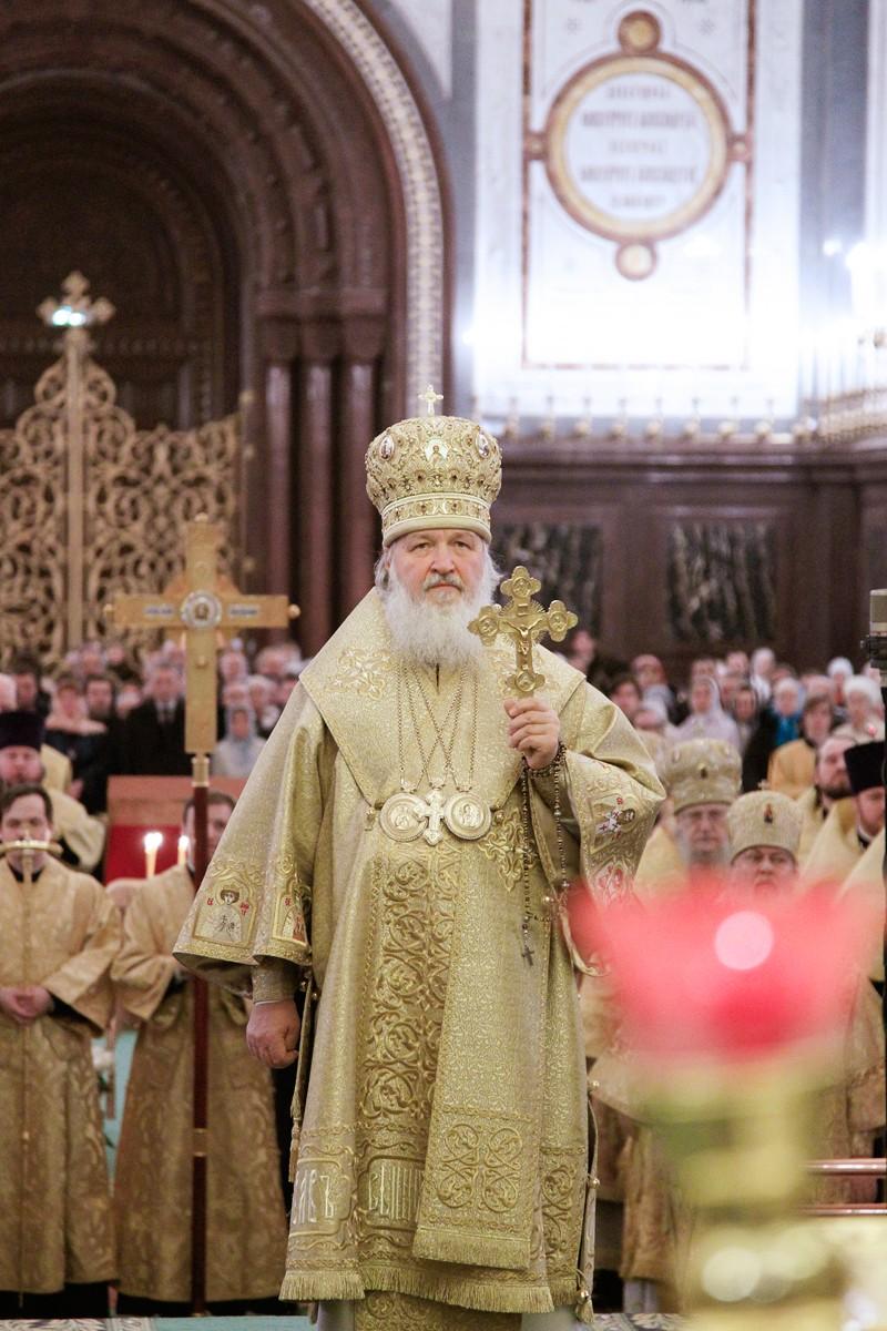 Патриарх Кирилл: Благополучие в новом году связано с Богом
