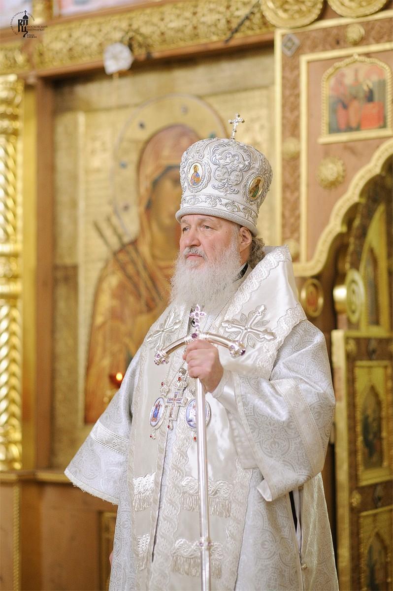 Патриарх Кирилл: Освящая воду, мы исповедуем веру в силу благодати Божией