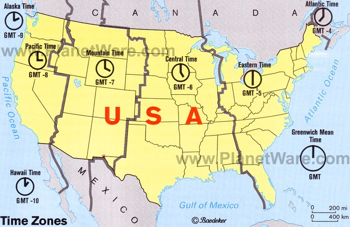 Map Of Time Zones Canada And Usa.Time Zones In The Usa Map Est Pst