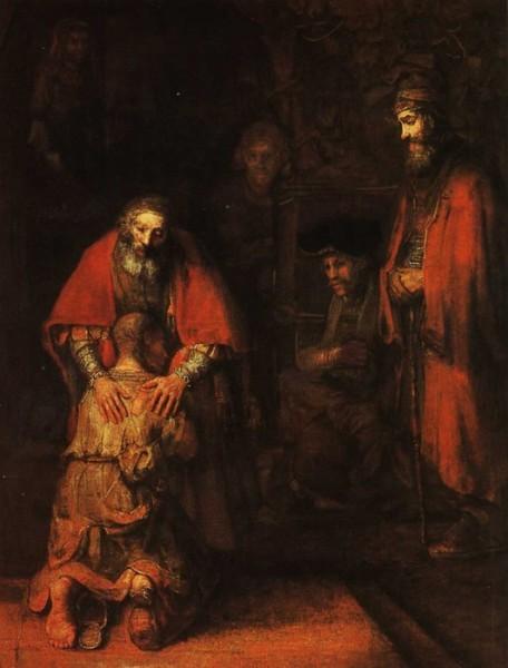 Возвращение блудного сына. Рембрандт. 1666/1669