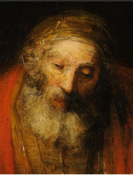 Возвращение блудного сына. Рембрандт. Фрагмент. 1666/1669