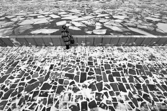 Ледоход на Москва-реке (набережная у Театра эстрады). Дмитрий Зверев (Москва)