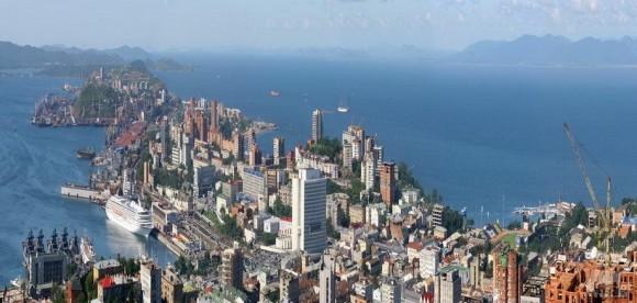Из серии «Владивосток как Рио», вид на город и бухту Золотой Рог с высоты птичьего полета, 2008 г.