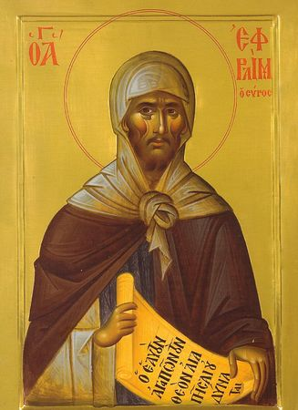 Преподобный Ефрем Сирин: житие, икона