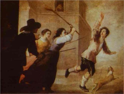 Изгнание блудного сына. Бартоломей Мурильо. 1660