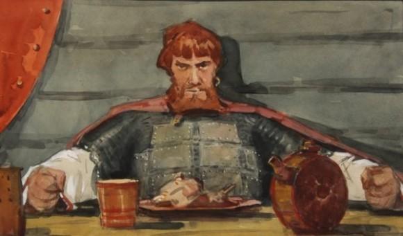 Алекснадр Бубнов. Оле за пиршественным столом