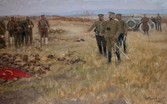 Картина Ивана Владимирова «Сдача в плен турецких солдат под Эрзерумом. 1915»
