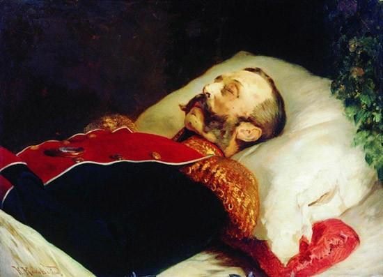 К. Е. Маковский. Портрет Александра II на смертном одре