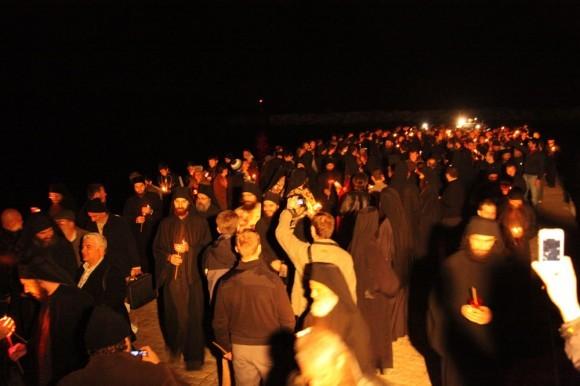 Возвращение игумена Ефрема в Ватопедский монастырь Афона (4)