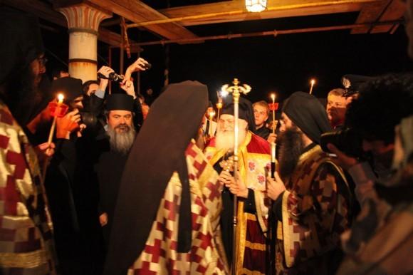 Возвращение игумена Ефрема в Ватопедский монастырь Афона (7)