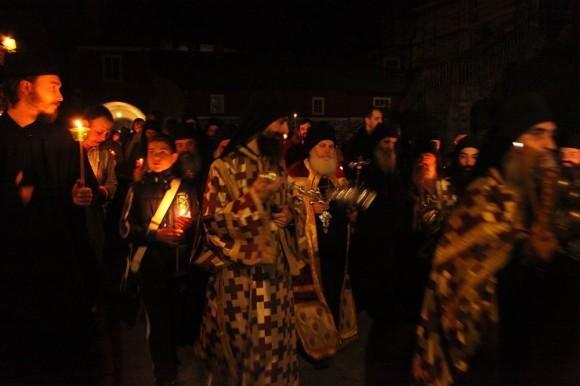 Возвращение игумена Ефрема в Ватопедский монастырь Афона (11)