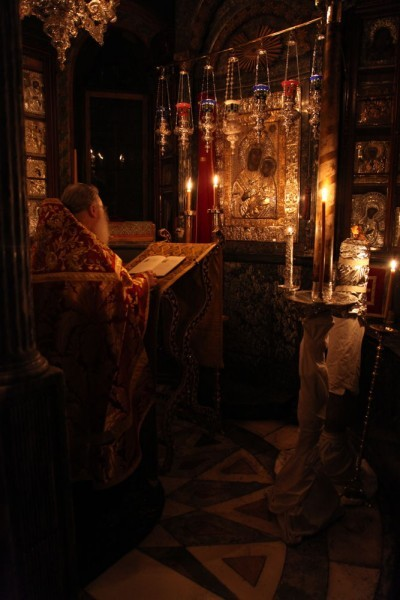Возвращение игумена Ефрема в Ватопедский монастырь Афона (17)