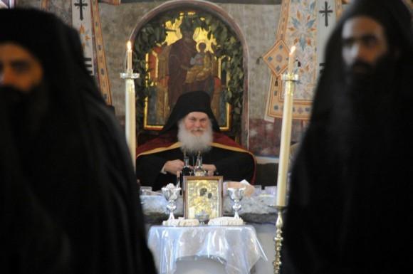 Возвращение игумена Ефрема в Ватопедский монастырь Афона (25)