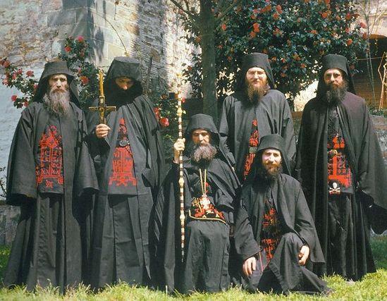 Игумен Ефрем с братством Филофея.1985 г.