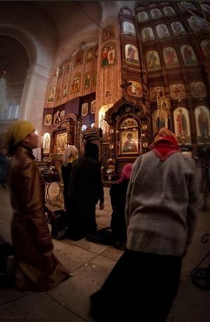 Великопостная молитва в Церкви