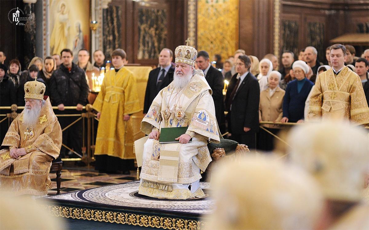 Патриарх Кирилл: Ответ христианина тем, кто кощунствует, должен быть исполнен мудрости, силы и спокойствия