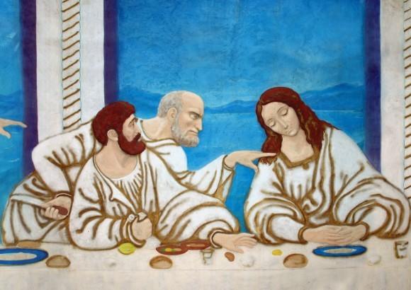 Симон Петр (с ножом), Иуда и Иоанн.