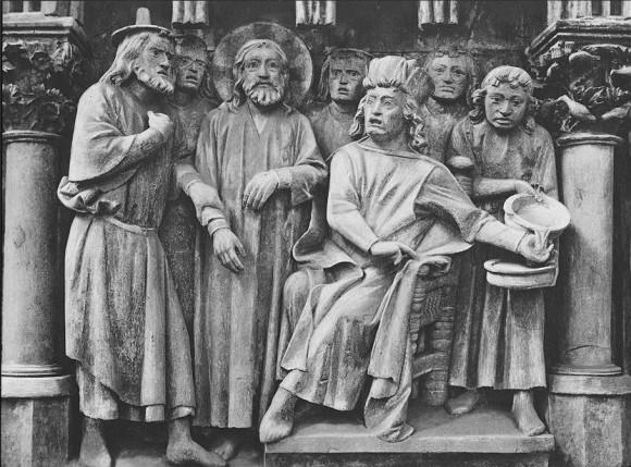 Христос перед Пилатом. Скульптурное изображение. Германия