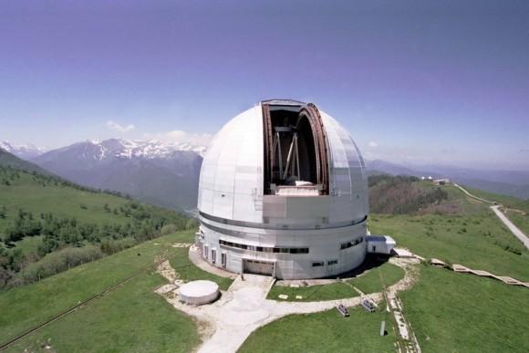 Башня телескопа БТА.