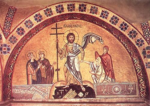 Сошествие во ад Начало XI в, мон. Осиос Лукас, Греция