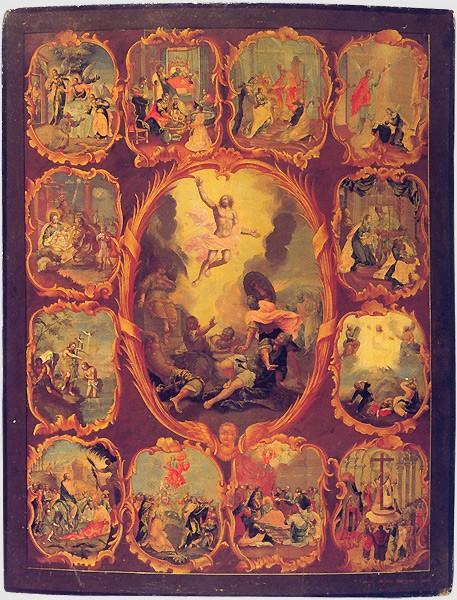 Воскресение Христово с праздниками Михаил Фунтусов. 1761 г.