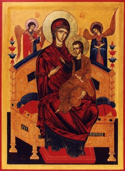 На Афоне написали икону «Всецарица» специально для храма при онкобольнице Сургута