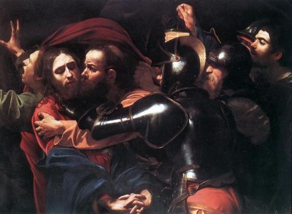 «Поцелуй Иуды», Микеланджело Меризи да Караваджо