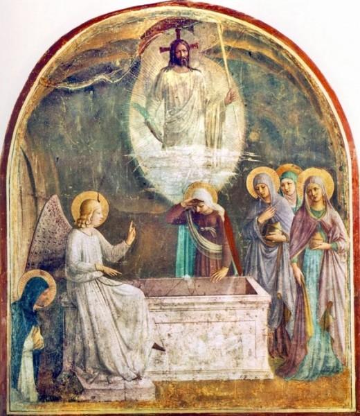Фра Беато Анжелико. Воскресение (фреска из монастыря Сан Марко, Флоренция, сер. XV в.)