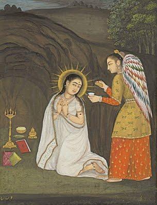 Благовещение. Индийская икона. 18 век