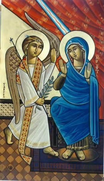 Благовещение. Коптская икона