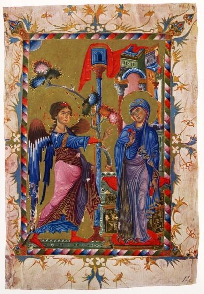 Благовещение. 13 в. Армянское Евангелие
